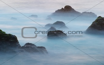 Waves and rocks 3