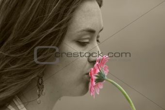 beautiful love - kissing flower