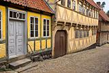 Romantic old houses in Denmark