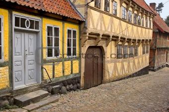 Romantic old houses in Denmark