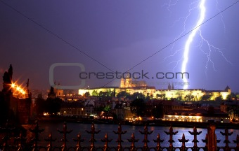 Prague. Thunderstorm.