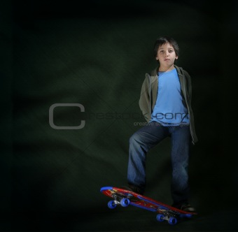 Skater boy with a cool attitude. Grunge style