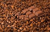 chocolate on  coffee-grain
