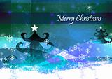 christmas blue green