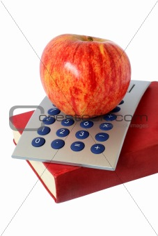 Apple Book and Calculator