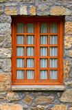 Wooden rustic vertical window