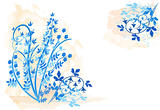 Floral background - vector grunge illustration