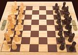chess set from top