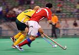 Hockey Player In Action