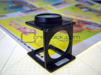 offset press magnifier