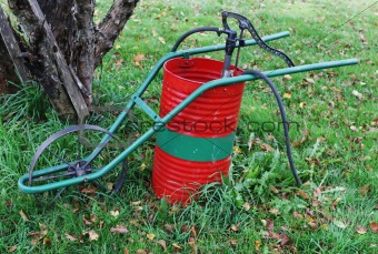 Old-fashioned weed sprayer