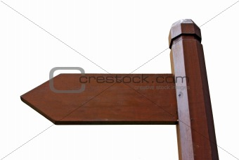 Direction Sign board with Clipping path