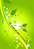 Fresh Floral Green