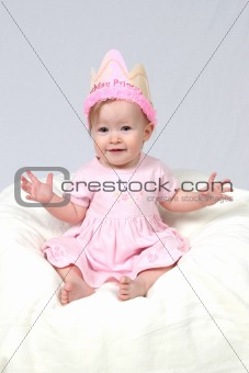 Baby Girl With Birthday Hat