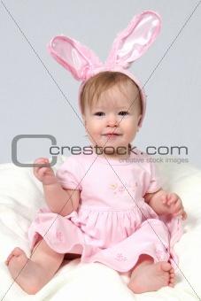 Baby Girl With Rabbit Ears