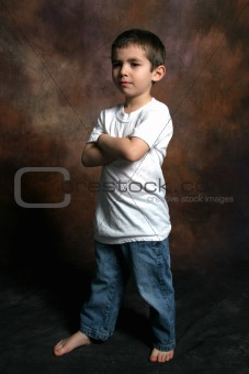 Boy Standing with arms folded