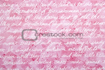 Abstract Red Background with Hand Writing