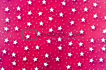 Abstract White Stars Background