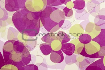 Abstract Red Flower Background