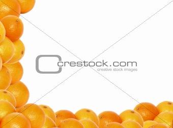 frame made of oranges