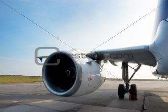 airplane at parking
