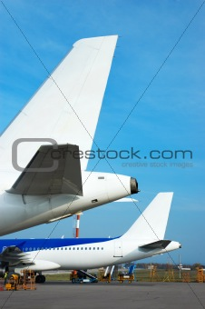airplane tails