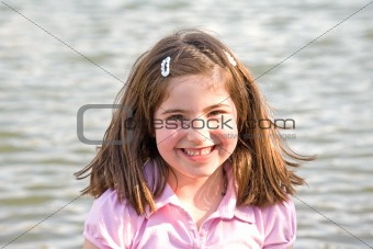 Little Girl in front of Water
