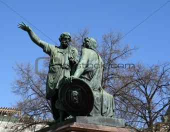 Statue of Kuzma Minin and Dmitry Pozharsky at Red Square, Moscow
