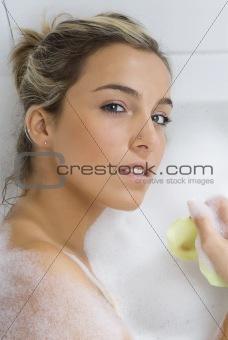 portrait in foam