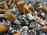 cigarettes in ash-tray