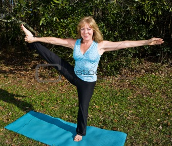 Mature Woman Pilates - Leg Stretch
