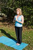 Mature Woman Yoga - Breathing