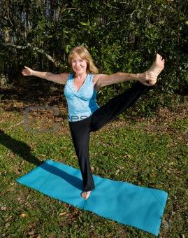 Mature Woman Yoga - On One Leg