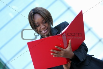 African american woman in office
