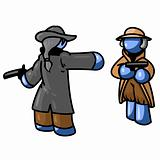 Blue Man Duel