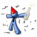 Blue Man Party Hit