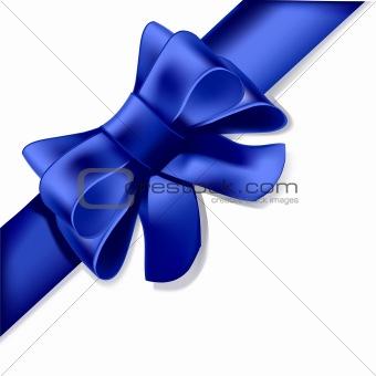 Blue Bow Corner Element