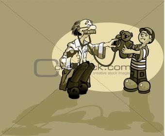 Boy and Doctor with Teddy Bear
