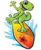 Gecko Surfing