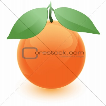 Orange Orb with Leaves