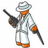 Orange Man with Tommy Gun