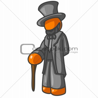 Orange Man President Lincoln