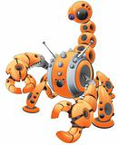 Orange Scorpion Robot