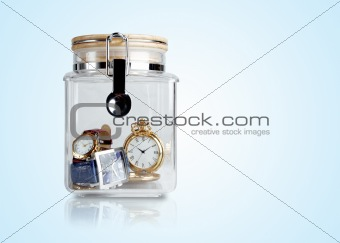 Time preserved in container
