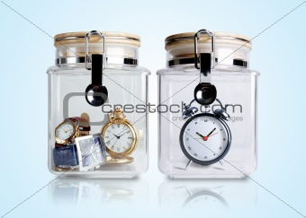 Time preserved in containers