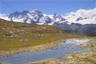 breithorn peak -switzerland