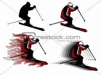 skiing illustration