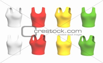 Background - multi-coloured female 3d shirts