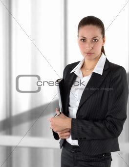 a businesswoman in a suit