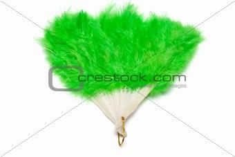 Green plumage fan